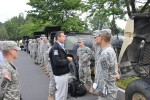 New York Governor Greets Army National Guard Soldiers Deploying for Hurricane Irene