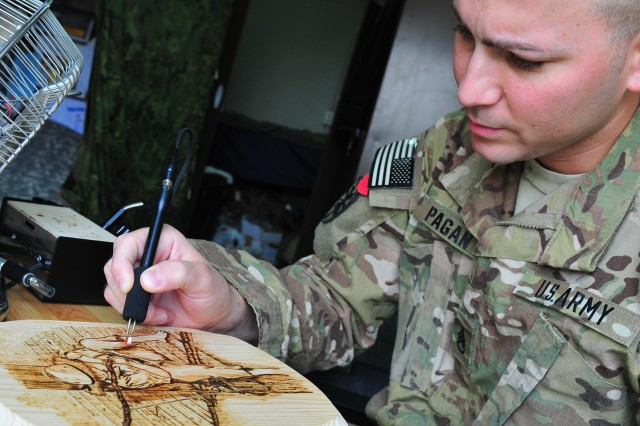 'Resolute' warrior burns his mark during deployment