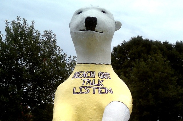 Sgt. Ted E. Bear has a message for the community during suicide prevention month.
