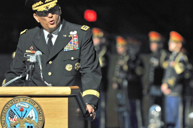 Shortly after taking the oath as 38th chief of staff of the Army, Gen. Raymond T. Odierno warns of cutting the force too fast, too quickly.