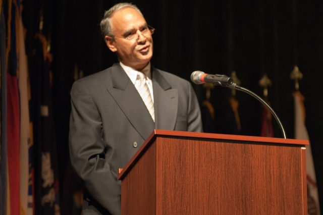 Anthony Cruz, 9/11 Survivor, speaks to the Aberdeen Proving Ground community Sept. 9 at the Post Theater.