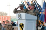 Part of World Trade Center backdrops 9-11 ceremony with troops in Afghanistan