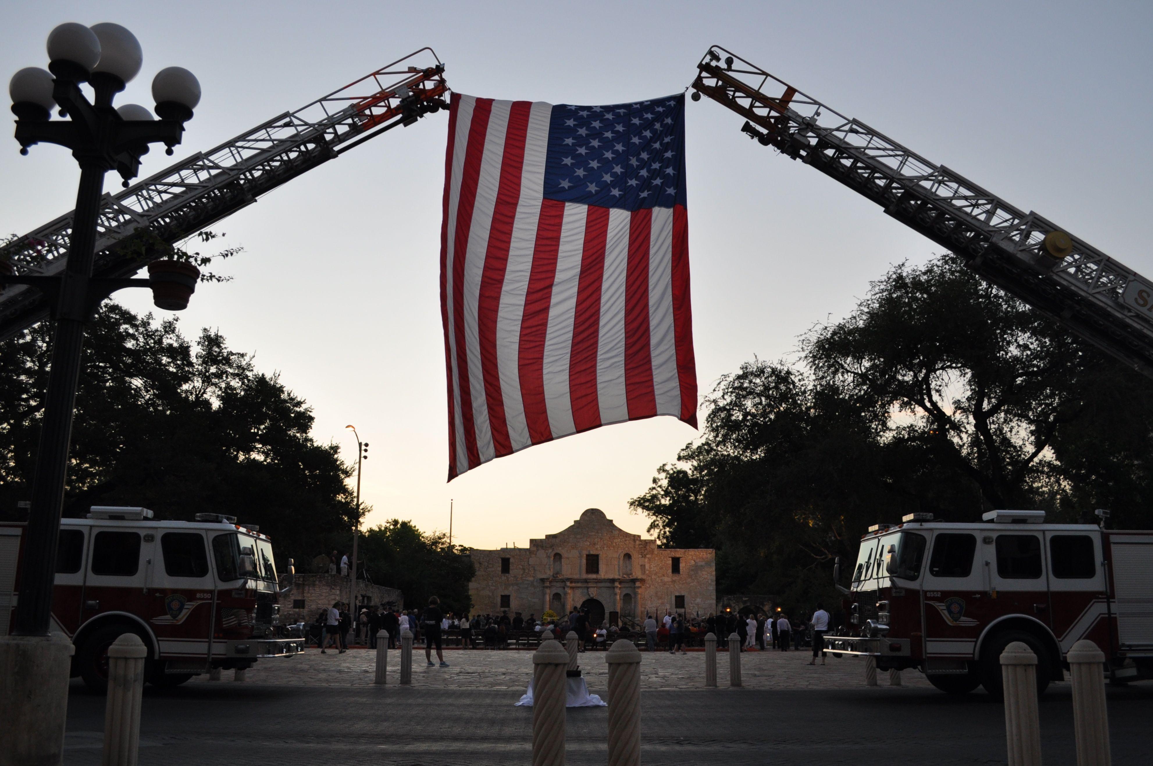 San Antonio City And Military Leaders Gather At Alamo To