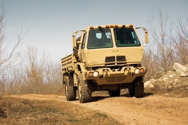 The U.S. Army is producing large numbers of Family of Medium Tactical Vehicles in an effort to deliver as many as 26,000 new trucks to the fleet over the next several years, service officials said.