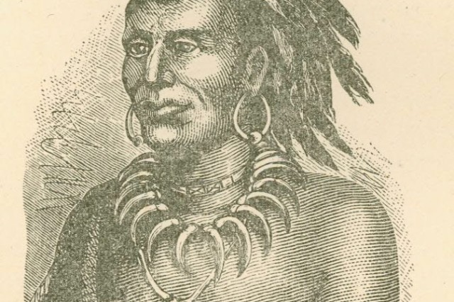 "Little Turtle, or Michikinakwa, a Chief of the Miami Tribe, led the Native Confederation Army against the Americans in the Northwest Territory in what became known as ""Little Turtle's War,"" causing the U. S. Army to suffer its worst defeat ever at the hands of American Indians."