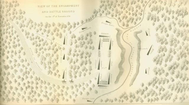 Map of St. Clair's Encampment