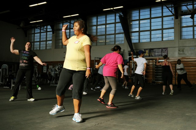 Fitness day gives spouses chance to develop physical resilience