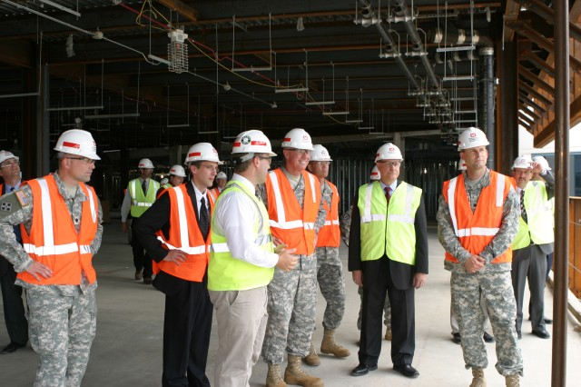 Former Chief of Engineers Lt. Gen. Robert Van Antwerp toured the C4ISR project in June 2010 with former Philadelphia District Commander Lt. Col. Thomas Tickner; current commander Lt. Col. Philip Secrist and members of the project delivery team.