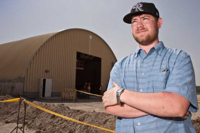Tim Whitt is responsible for construction contracts to build new facilities and upgrade existing structures at Camp Leatherneck and throughout the Helmand province in Afghanistan. Whitt is a contract specialist with the Installation Contracting Office-Fort Carson deployed to Camp Leatherneck, Afghanistan.
