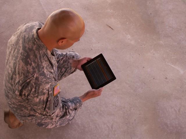 Maj. Glover Castro searches ATN2GO for the new Commander's Guide to MC4