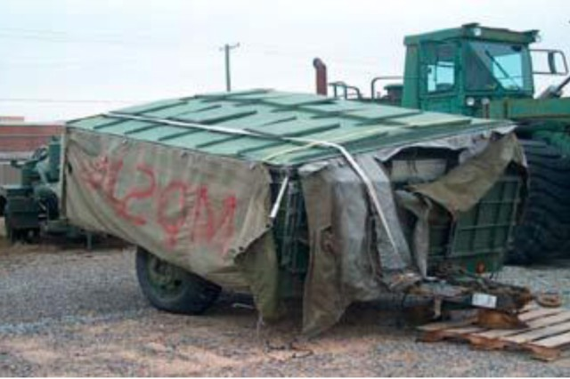Equipment such as this Mobile Kitchen Trailer sometimes come back from the field battered, but the RESET Field Feeding/Field Services Team saves the Army millions by repairing them whenever possible rather than buying new units.