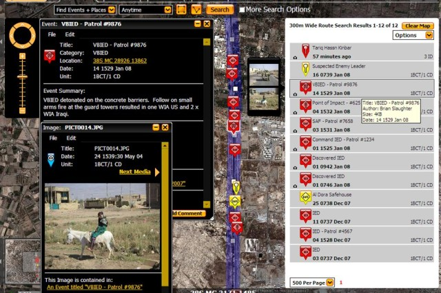 The web-based Tactical Ground Reporting tool, known as TIGR, empowers Soldiers to collect, share and analyze information using a Google Earth-like interface, pictures and text. Units can post and archive route reports, so other units headed to the same place can review and learn from their actions.