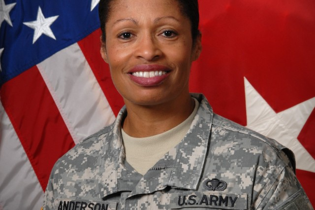 Maj. Gen. Marcia M. Anderson, deputy commanding general of the U.S. Army Human Resources Command, is the first-ever female U.S. Army African-American officer to obtain the rank of major general. (Photo Credit: Sally Harding, Ft Knox VI).