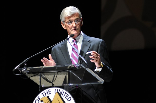 During the opening ceremony of the 2011 Association of the United States Army Annual Meeting and Exposition in Washington, D.C., Secretary of the Army John McHugh pointed out that the Army provides 50 to 70 percent of deployable forces. Additionally, he said, the Army represents about half of America's entire fighting force, yet consumes only a quarter to 30 percent of the entire defense budget.