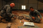 Soldiers Create Massive Sandtable to Train Leaders at National Training Center