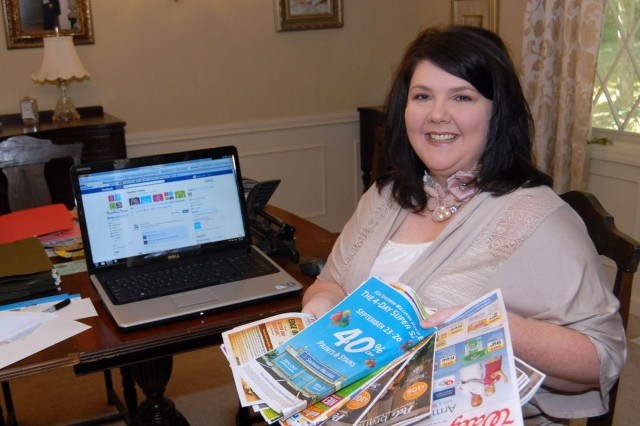 Heather McIngvale, founder of Heather's Hints, a website devoted to couponing and saving money in the checkout line, checks out her latest stash of coupons.