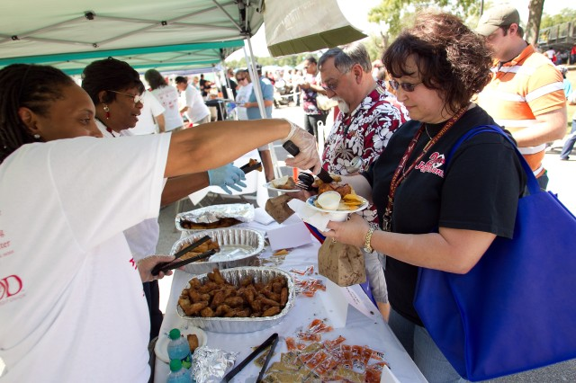 Anniston Army Depot's Equal Employment Opportunity Office provided a diverse selection of food from a variety of cultures for employees to taste during the depot's Employee Appreciation Day Oct. 6.