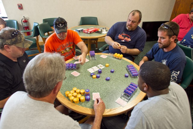 The Texas hold 'em tournament at Anniston Army Depot's Employee Appreciation Day Oct. 6 drew serious competition.