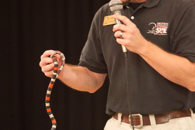 The Anniston Museum of Natural History provided an animal show for Anniston Army Depot employees and their families during Employee Appreciation Day Oct. 6.