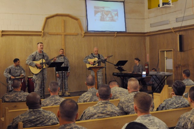 Paratroopers with 2nd Brigade, 82nd Airborne Division held a memorial service to honor past Service members who made the ultimate sacrifice to bring peace and security to Anbar province. The service was held at the Camp Ramadi Chapel, Iraq, Oct 9.