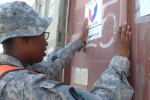 402nd AFSB moves turn-in items out of Iraq