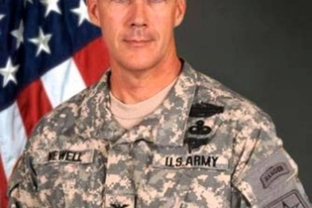 """Colonel Peter A. Newell, Director, Rapid Equipping Force, Fort Belvoir, Virginia represented the Army during a Pentagon Energy Security Forum and discussed providing the """"tactical edge"""" for America's Soldiers,  """"operational energy challenges""""  and the Rapid Equipping Forces' mission."""