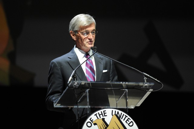 Hon. John McHugh, Secretary of the Army, speaks during the opening ceremony of the 2011 Association of the United States Army Annual Meeting and Exposition in Oct. 10, 2011 in Washington, D.C.