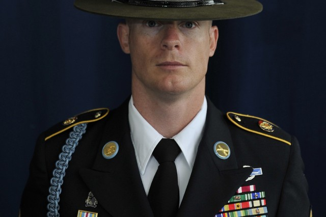 U.S. Army Staff Sgt. Andrew J. Palmer, recipient of the Ralph E. Haines Jr. Award as the Outstanding Drill Sergeant of the Year in the Army Reserve, attends the 2011 Association of the United States Army Annual Meeting and Exposition in Oct. 11, 2011 in Washington, D.C.