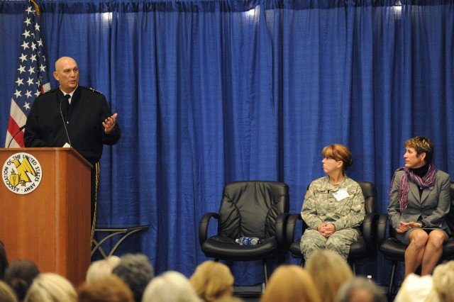 U.S. Army Gen. Raymond T. Odierno, Chief of Staff of the Army, speaks to Gold Star family members in a Military Family Forum as part of the Annual Meeting and Exposition of the Association of the United States Army  Oct. 11, 2011 in Washington, D.C.