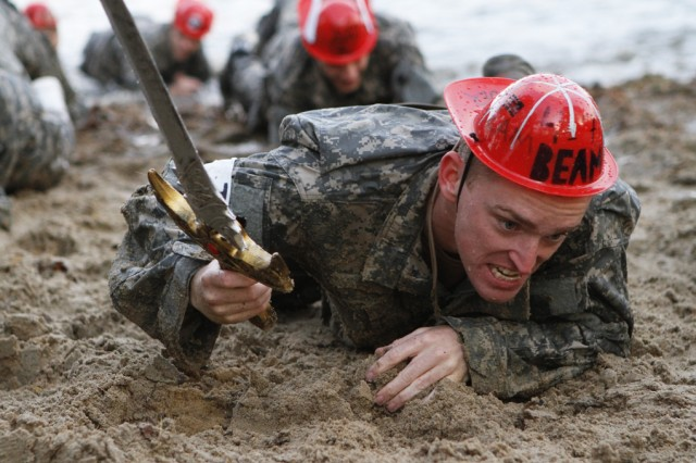 The Stud Mudder was the Fourth Regiment's version of the popular tough mudder competition that drenches athletes in pools of mud throughout a long-distance course through various obstacles.