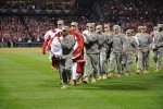 Fort Leonard Wood Soldiers unfurl colors at Game 1 of the 2011 World Series