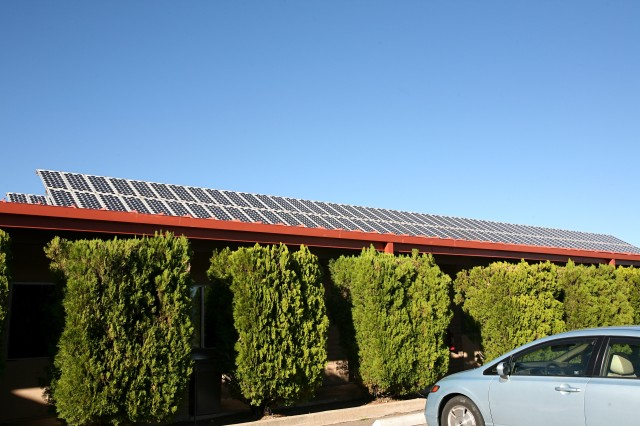In 1982, the photovoltaic system in service at the Holman Guest House, Fort Huachuca, Ariz., was the first PV system installed on the fort.