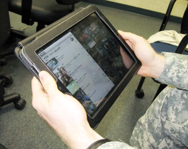 Language training on iPad