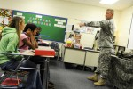Soldiers participate in middle school career day