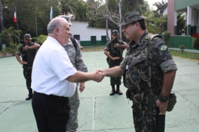 Under Secretary of the Army Joseph W. Westphal tours the Amazon Command Headquarters and the Brazilian Army's Jungle School in Manaus, Brazil. Westphal met with the unit in order to assess future Army requirements and discuss regional security and cooperation efforts. Discussions centered on maintaining the Army-to-Army and service-to-service relationship that the U.S. and Brazil have developed over the years, and the Brazilian Army's role during the 2014 World Cup and 2016 Olympics. Westphal stressed the importance of maintaining relationships, expanding partnerships into areas of mutual interest and deepening U.S.-Brazil defense cooperation to effectively confront shared security challenges.