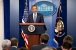 President Barack Obama announces the withdrawal of troops from Iraq