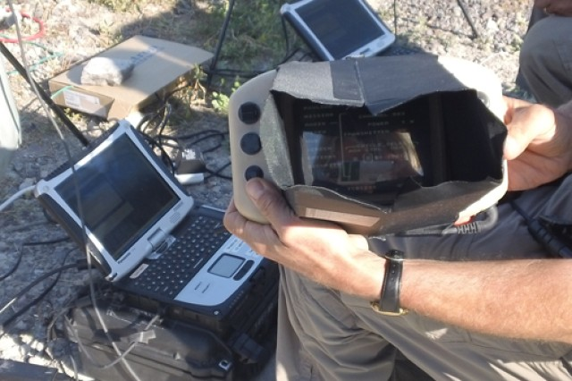 """The Mini-Universal Ground Control Station allows for control of the Army's small unmanned aircraft, to include Raven and Puma. It also allows for small Unmanned Aircraft Systems operators to control one or more sensors from the Gray Eagle """"Triclops"""" payload."""