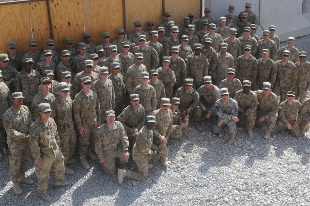 Sgt. Maj. of the Army Raymond F. Chandler III visits with troops from 1st Stryker Brigade Combat Team, 25th Infantry Division, at Forward Operating Base Masum Ghar, Afghanistan, Oct. 20, 2011.