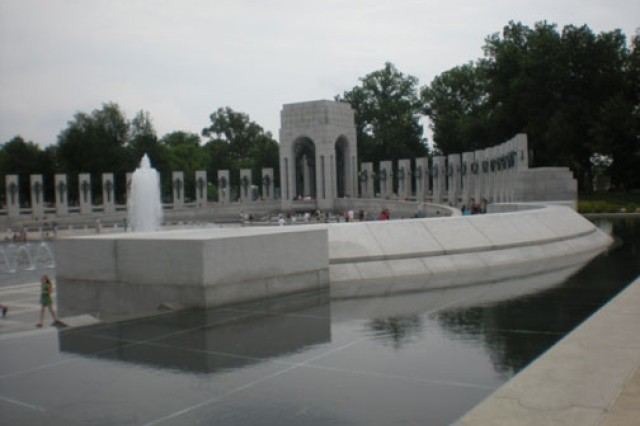 The World War II Memorial in Washington.