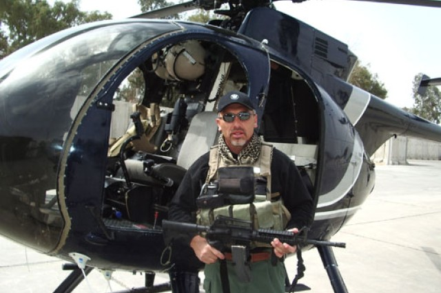 Retired Chief Warrant Officer 4 Dan Laguna served as a contractor flight lead in Iraq, 2006.