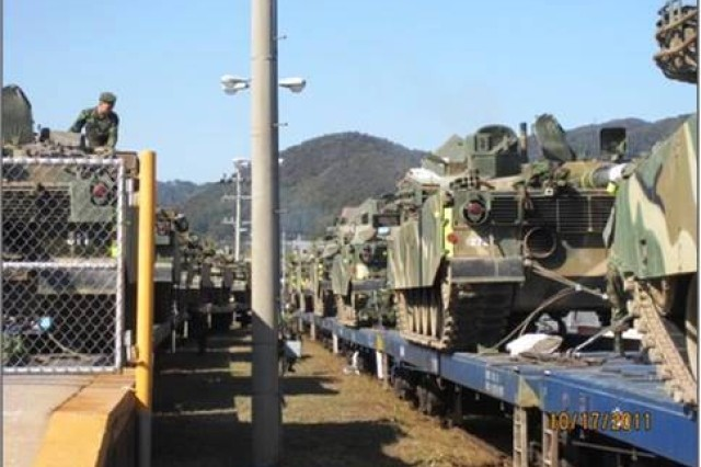 The 25th Trans. Bn. partnered with the Republic of Korea's 26th Mech. Div. at Camp Casey's rail head to conduct joint training in an ongoing effort to strengthen ROKA-U.S. military ties.