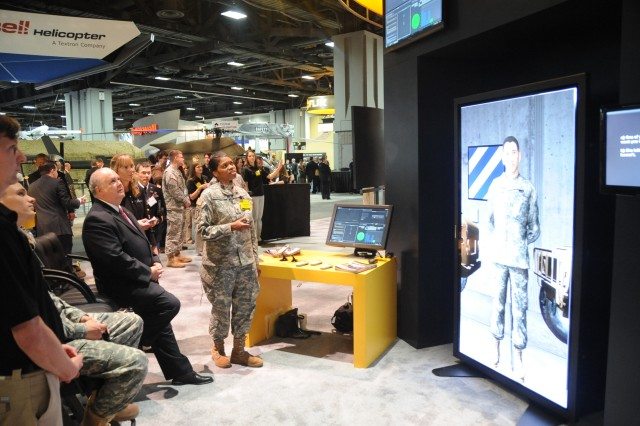 Under Secretary of the Army, HON Dr. Joseph W. Westphal, visits the U.S. Army Exhibit, booth# 1775, during the 2011 AUSA Annual Meeting and Exposition.