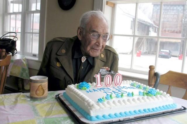 Harry Thompson celebrates his 100th birthday in 2009.