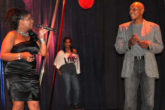 """Singing """"My Endless Love"""" garnered second place for the duet of Robin Farland and Ty Robinson."""