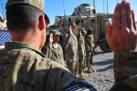 TF-Resolute hosts mass reenlistment in Afghanistan