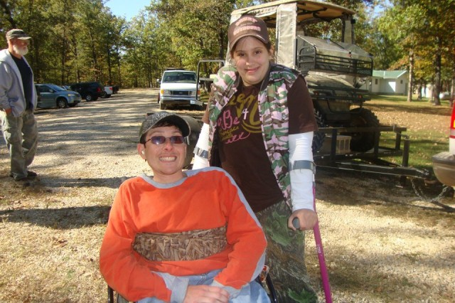 Hunters with disabilites during deer hunt