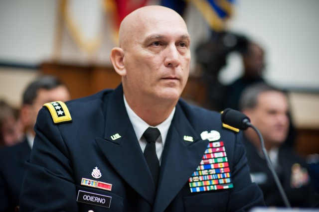 U.S. Army Chief of Staff Gen. Raymond T. Odierno testifies before the House Armed Services Committee at Capitol Hill Nov. 2, 2011, in Washington, D.C. The Services Chiefs addressed congress about the effects budgetary cuts will have on the military and its capabilities.