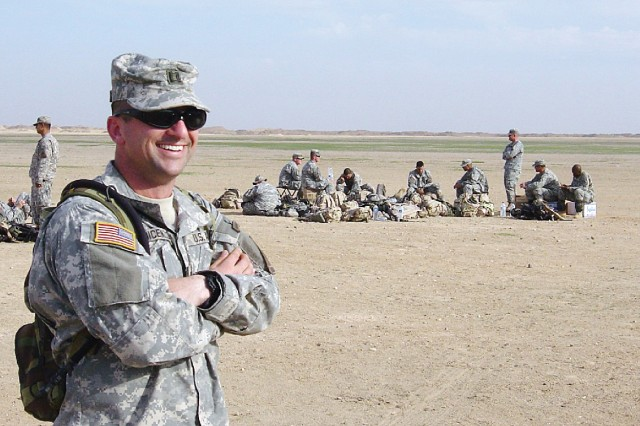 Capt. Doug DiCenzo poses for a photo while in Kuwait in 2006.