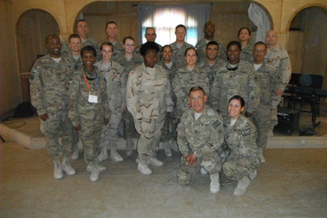 Members of the Joint Sustainment Command- Afghanistan came together Oct. 31 through Nov. 1, to participate in suicide intervention training in Kandahar. The trainees will take the skills they learned and be their unit's suicide intervention representatives.