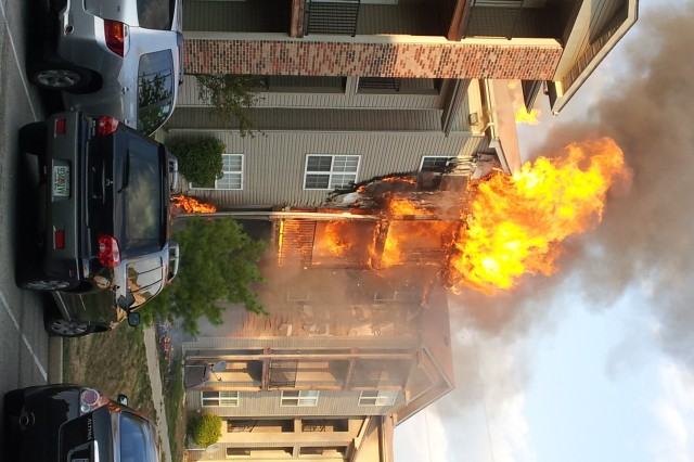 An Indianapolis apartment fire in September looks deadly, but no one was injured thanks to the actions of two Indiana National Guard Soldiers who helped more than 20 residents evacuate the premises.